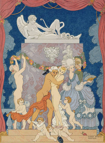 Wall Art - Painting - Scene From 'les Liaisons Dangereuses'  by Georges Barbier