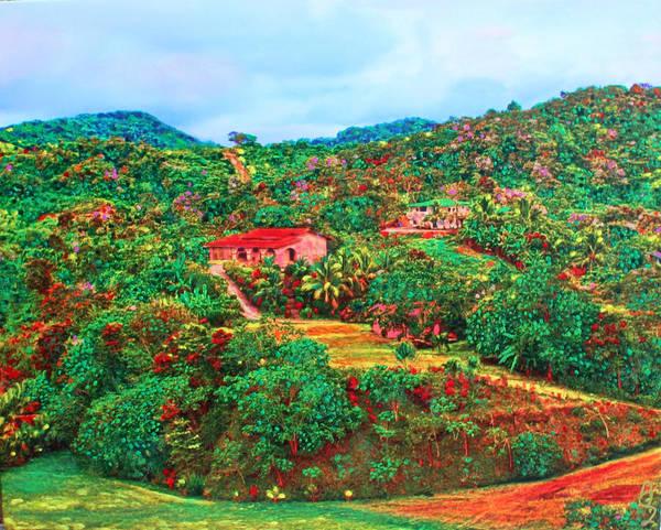 Scene From Mahogony Bay Honduras Art Print