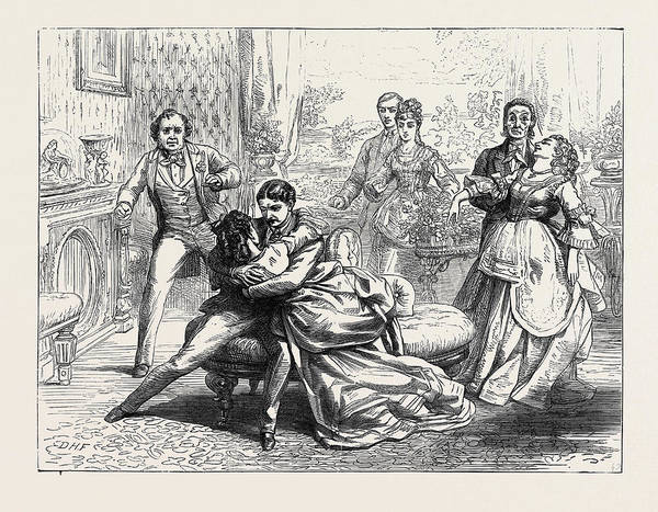 Globe Theatre Drawing - Scene From Partners For Life At The Globe Theatre London by English School