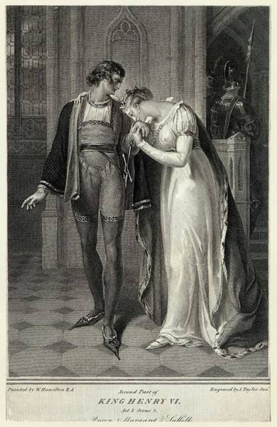 Wall Art - Drawing - Scene From Shakespeare Play, Henry Vi by Mary Evans Picture Library