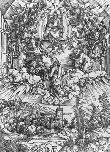 Northern Renaissance Wall Art - Painting - Scene From The Apocalypse by Albrecht Durer or Duerer