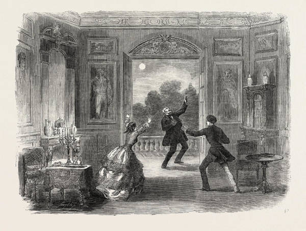 Chateau Drawing - Scene From The New Drama Of The Old Chateau by English School