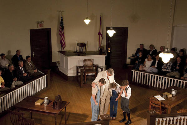 Harper Lee Wall Art - Photograph - Scene From The Play To Kill A Mockingbird In Monroeville by Carol M Highsmith