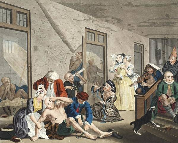 Morality Wall Art - Drawing - Scene In Bedlam, Plate Viii, From A by William Hogarth