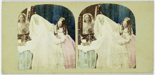 Bridesmaids Painting - Scene In Boudoir Bride And Bridesmaid Make Toilet by Artokoloro