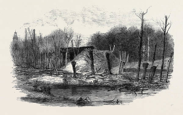 Explosion Drawing - Scene Of The Recent Explosion In Hounslow Powder Mills by English School