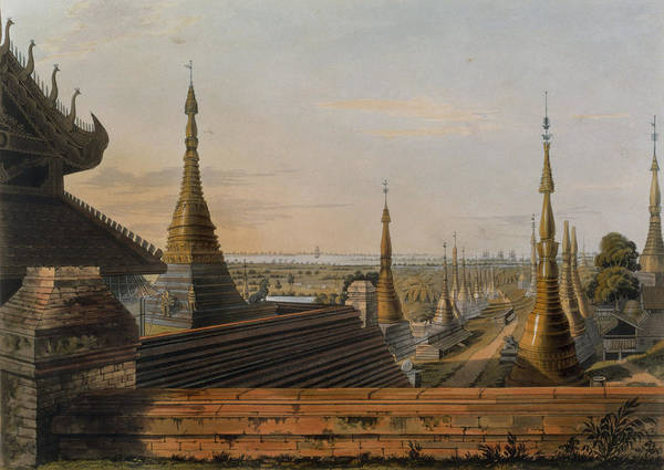Burma Wall Art - Drawing - Scene Upon The Eastern Road by Joseph Moore