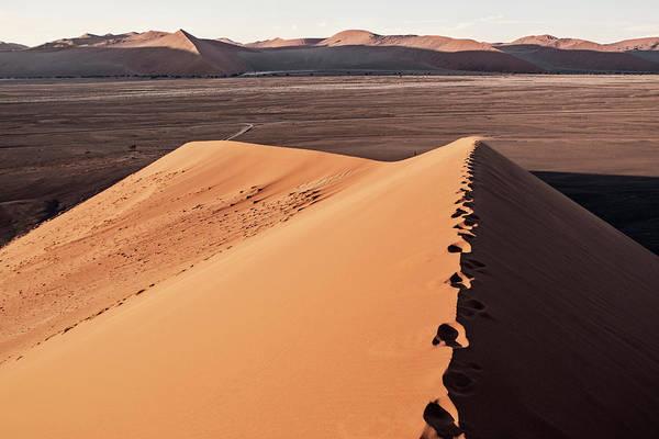 Sossusvlei Photograph - Scenery Of Dune 45 Near Sossusvlei by Chris Bennett
