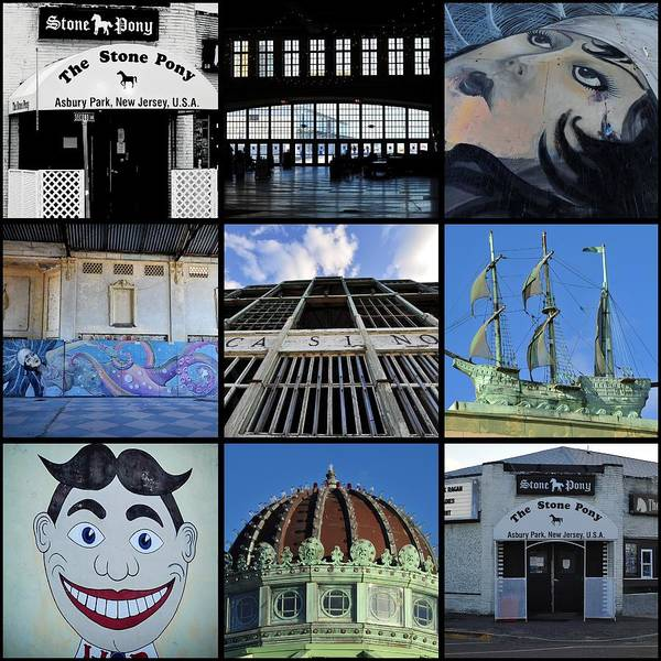 Photograph - Scenes From Asbury Park New Jersey Collage by Terry DeLuco