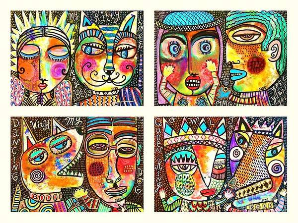 Painting - -scenes Of Love And Joy by Sandra Silberzweig