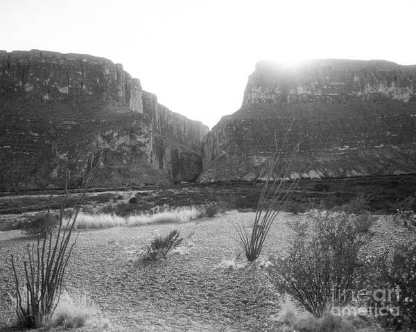 Photograph - Scenic Big Bend National Park In Black And White by M K Miller