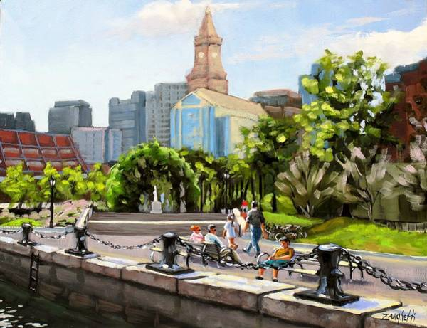 Wall Art - Painting - Scenic Boston by Laura Lee Zanghetti