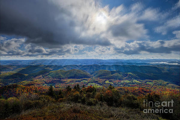 Photograph - Scenic From Top Of Bald Knob Mountain by Dan Friend
