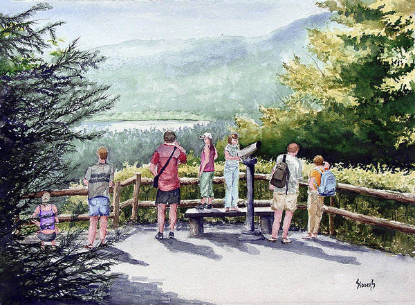 Wall Art - Painting - Scenic Overlook by Sam Sidders