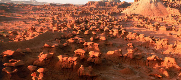 Goblin Photograph - Scenic Rock Sculptures At Goblin Valley by Panoramic Images
