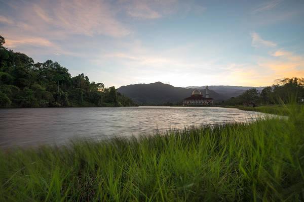Scenic Shot Of Calm Lake Against Mountain Range Art Print by Shaifulzamri Masri / EyeEm