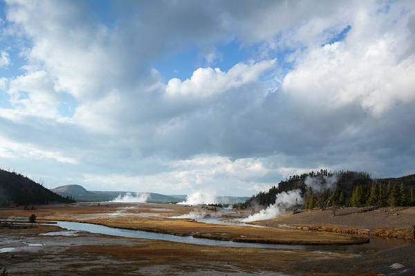 Firehole River Wall Art - Photograph - Scenic View Of Firehole River In by Noah Clayton
