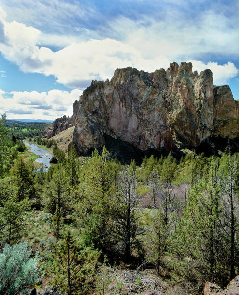 Crooked River Photograph - Scenic View Of Smith Rock, Crooked by Panoramic Images