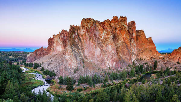 Crooked River Photograph - Scenic View Of Smith Rocks State Park by Andrew Peacock