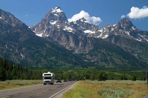 R Photograph - Scenic View Of The Teton Range by David R. Frazier