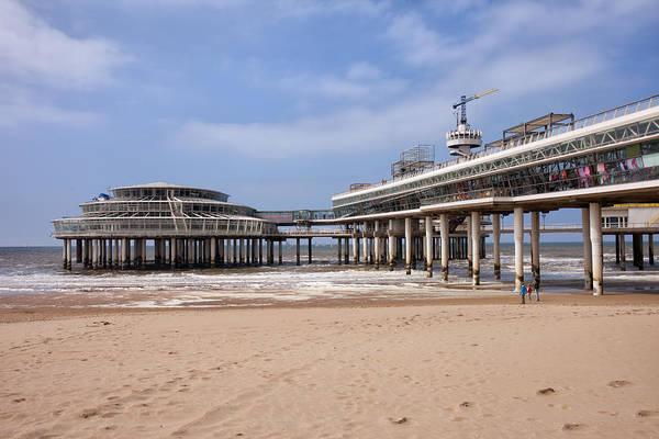 Scheveningen Photograph - Scheveningen Beach And Pier In Hague by Artur Bogacki
