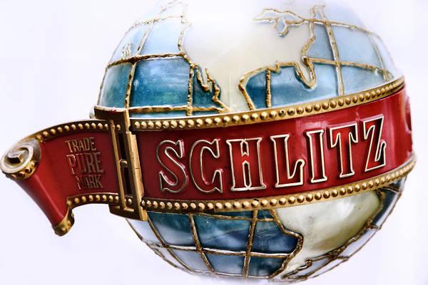 Memorabilia Wall Art - Photograph - Schlitz The Pure Mark Globe by Sally Bauer