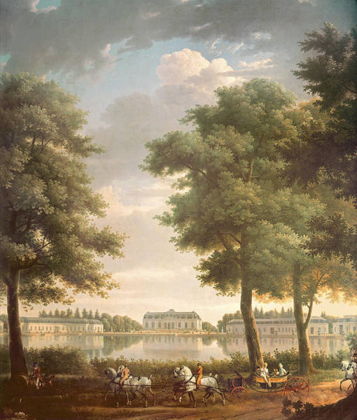 Charles Mansion Photograph - Schloss Benrath, 1806 Oil On Canvas by Antoine Charles Horace Vernet