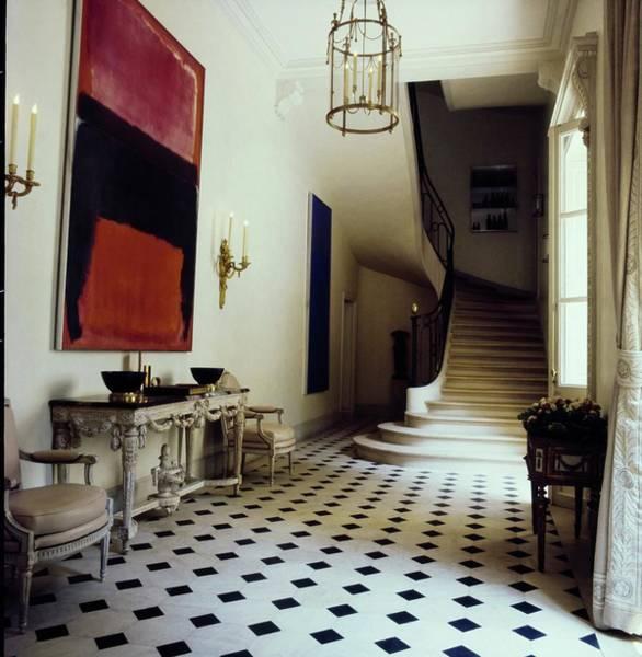 Wall Art - Photograph - Schlumberger's Entrance Hall by Horst P. Horst