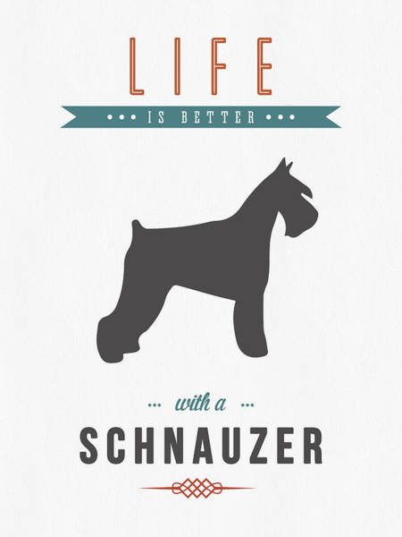 Quote Digital Art - Schnauzer 01 by Aged Pixel