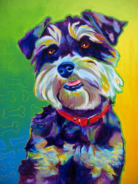 Wall Art - Painting - Schnauzer - Charly by Alicia VanNoy Call