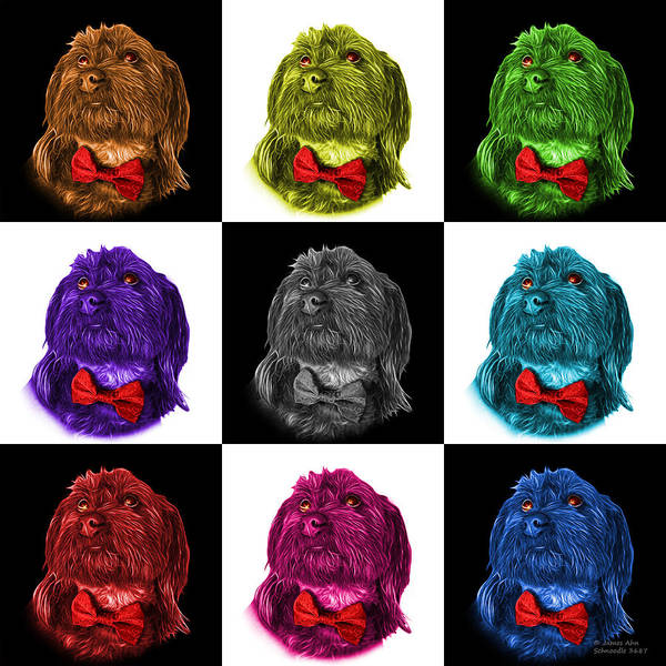 Painting - Schnoodle Pop Art 3687 - V1 - M by James Ahn