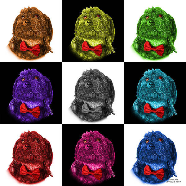 Painting - Schnoodle Pop Art 3687 - V2 - M by James Ahn