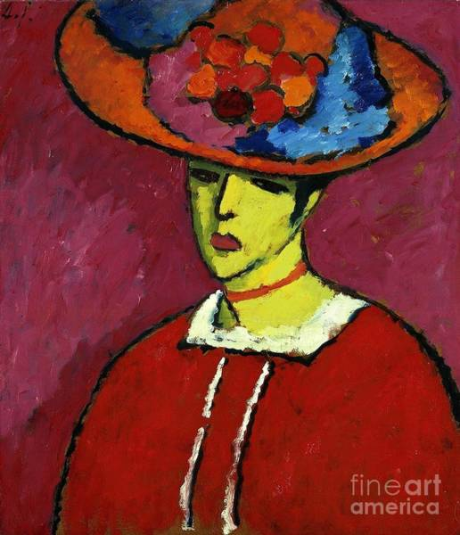 Painting - Schokko With Wide Brimmed Hat by Celestial Images