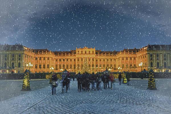 Photograph - Schonbrunn Christmas Market by Joan Carroll
