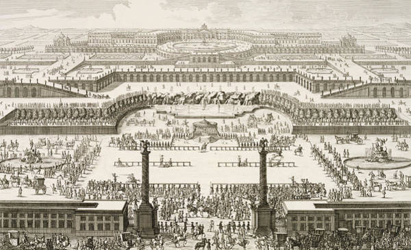Baroque Drawing - Schonbrunn Palace In Vienna by Johann Adam Delsenbach