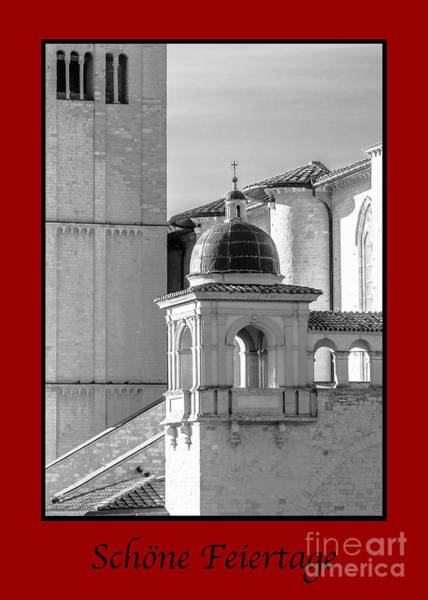 Photograph - Schone Feiertage With Basilica Details by Prints of Italy