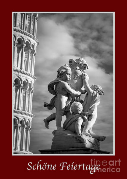 Photograph - Schone Feiertage With Fountain Of Angels  by Prints of Italy