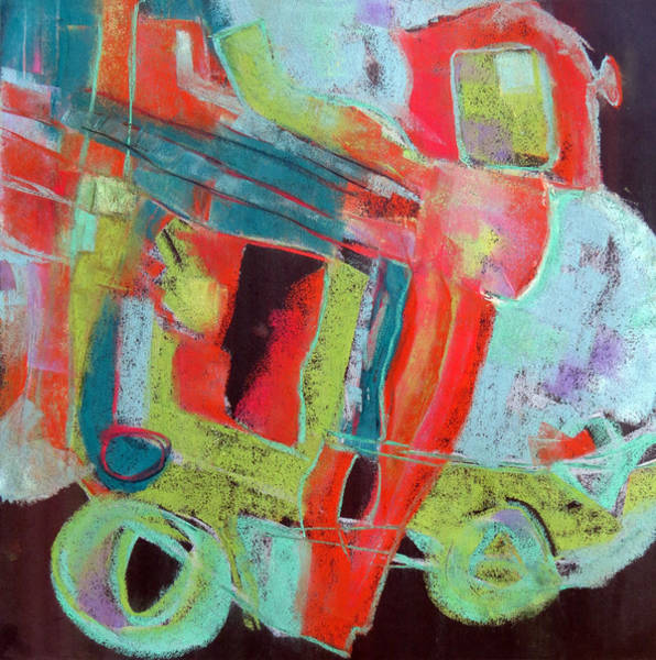Subjective Wall Art - Painting - School Bus by Katie Black