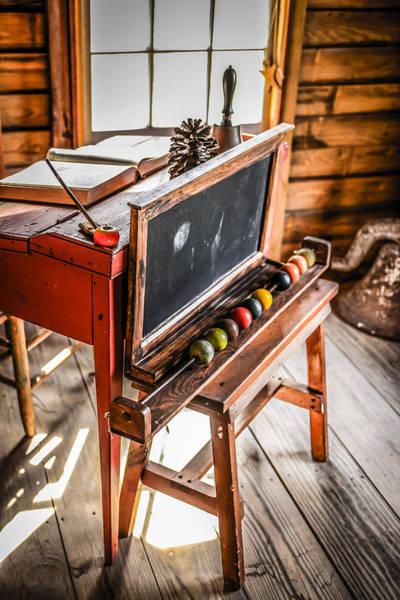 Pioneer School Photograph - School Desk by Chris Smith