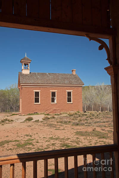 Photograph - School House And Community Center From Alonzo Russell House Porc by Fred Stearns