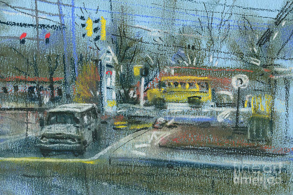 Wall Art - Painting - Schoolbus by Donald Maier