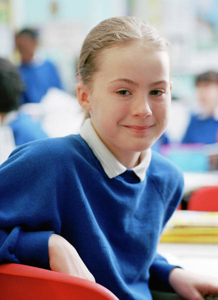 Classroom Photograph - Schoolgirl by Martin Riedl/science Photo Library