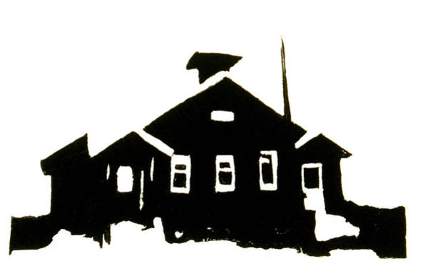 Grand Rapids Painting - Schoolhouse Silhouette by Chris DeVries