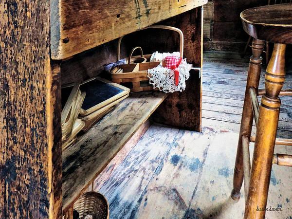 Photograph - Schoolmarms Desk by Susan Savad