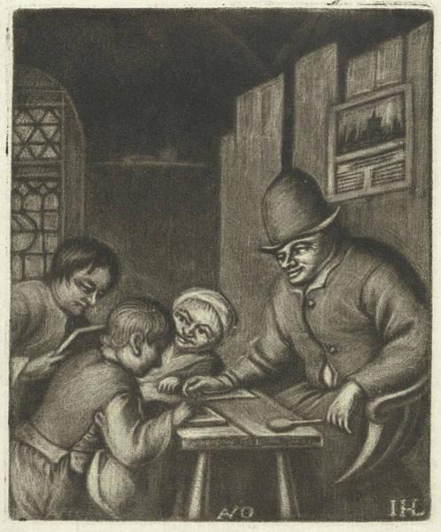 Wall Art - Drawing - Schoolmaster, Jacob Hoolaart by Jacob Hoolaart