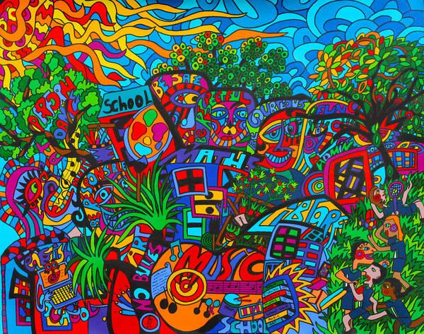 Wall Art - Painting - Schools In by Karen Elzinga