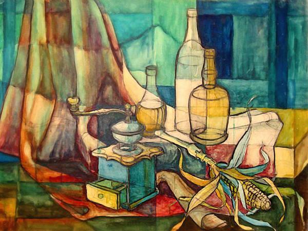 Painting - Schoolstudy 1965 by Lutz Baar