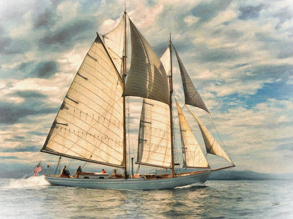 Painting - Schooner 101a by Dean Wittle