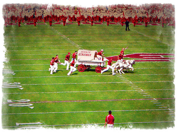 College Football Photograph - Schooner - Impressions by Ricky Barnard