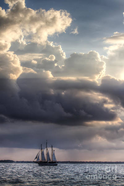 Photograph - Schooner Pride And Clouds by Dustin K Ryan